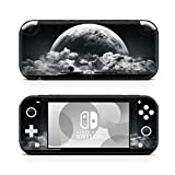 ZOOMHITSKINS Switch Lite Skin Decal Stickers, Black Moon Clouds Grey White Sky Planet Gloss Night Dark Nature Graphic Space, High Quality, Durable, Bubble-free, Goo-free, 1 Console Skin, Made in USA