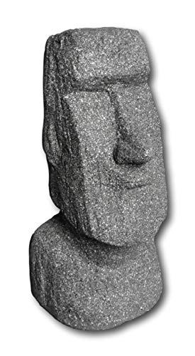 Figura decorativa de cabeza de Moai, para casa, jardín, piedra, isla de Pascua, figura decorativa (42 cm)