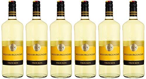 HXM Weissburgunder Trocken Qualitätswein Rheinhessen Weißwein (6 x 1 l)