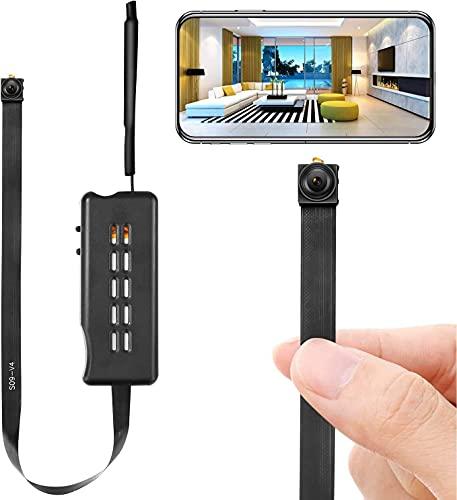 Cámara Espía Cámara Oculta Inalámbrica WiFi Mini CAM HD 1080P DIY Tiny Cams Cámaras para niñeras pequeñas Seguridad del Video con Detección de Movimiento