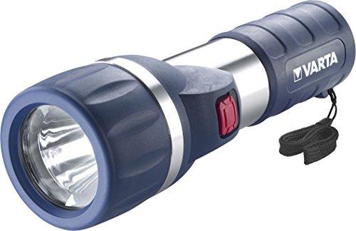 Varta 1 Watt LED Day Light Taschenlampe F35 (inkl. 2x High Energy D Batterien Flashlight Leuchte Lampe Taschenleuchte Taschenlicht geeignet für Haushalt, Camping, Angeln, Garage, Notfall, Stromausfall, Outdoor)