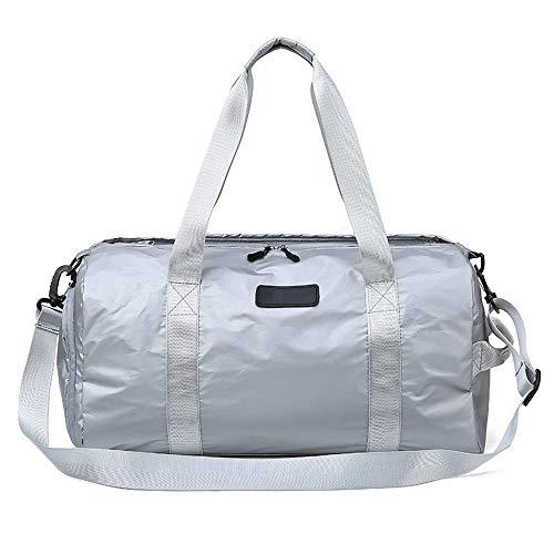 Sporten Fitness Bag - droge en natte apart zwemgedeelte Bag, lichtgewicht Handtas, Sport, Fitness, Reizen, 48 * 22 * 23cm Overnachting (Kleur: Zwart) Mooie en praktische sporttas. (Color : Silver)
