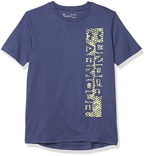 Under Armour Jungen T-Shirt Links Brust Knockout Print Fill Short Sleeve Gr. M, Blau Tinte (497)/Röntgenstrahlen
