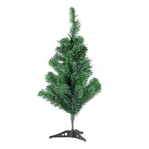 Green Christmas Tree Mini Artificial Christmas Tree Fake Pine Tree New Year Xmas Party Decoration for Home Shop Office 60cm-Green