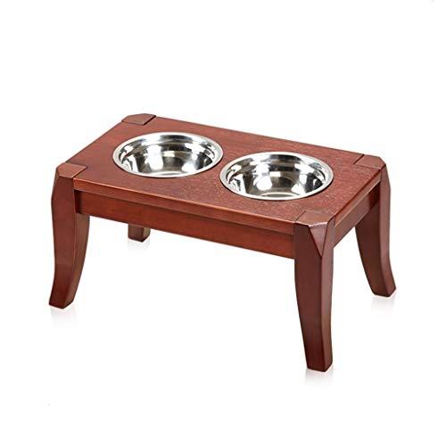 JINAXIN hondenrek, eettafel, eiken, hondenkom, middelgrote en kleine honden (vier maten), B