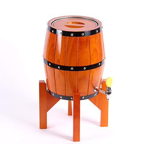 Yimihua Barril de Vino Barril de Roble de 5L, Barril de Vino Vertical con Grifo de Acero Inoxidable for Cerveza y Licores (Color : Orange, Size : 5L)
