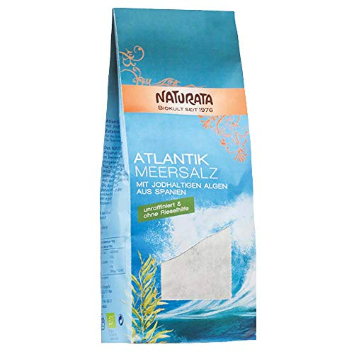 Naturata Bio Atlantik Meersalz mit jodhaltigen Algen 8x500g