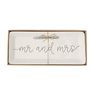 Mud Pie 4075127 Wedding Hostess Set, White