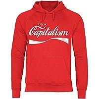 wowshirt Sudadera con Capucha Enjoy Capitalism políticas de devolución de Dinero capitalismo Auto empresarios para Hombre, Tamaño:XL, Color:Red