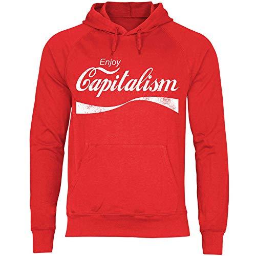wowshirt Sudadera con Capucha Enjoy Capitalism políticas de devolución de Dinero capitalismo Auto empresarios para Hombre, Tamaño:M, Color:Red