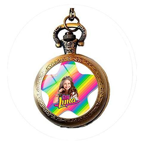 Super Popular Singer Soy Luna Necklaces Handmade Art Picture Glass Cabochon Pendant Pocket Watch Necklace