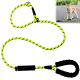 Slip Lead Dog Leash, Strong Nylon Dog Training Leashes, 2 in 1 Reflective Rope Pet Leash with Comfortable Padded Handle for Medium Large Dogs, No Need Dog Collar (1.8M Long)