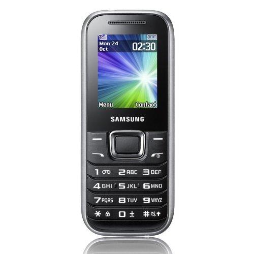 Samsung E1230Handy GSM DualBand, schwarz