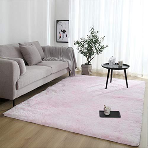 Household Light Pink Carpet,Bedroom Long Wool Carpet,Modern Minimalist Carpet,5.25'×6.56'