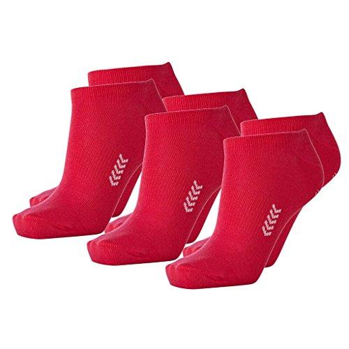 Hummel 6 Paar Sneaker Socken für Damen und Herren - viele Farben - Größen 36-48 (41-45 (12), Bright Rose/White (4067))