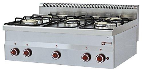 Gastlando - Cocina de gas modular de 5 quemadores (sin base)