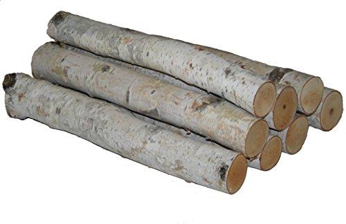 Wilson Enterprises White Birch Log Bundle Birkenholz-Bündel, Weiße Birke, 8 1 1/2