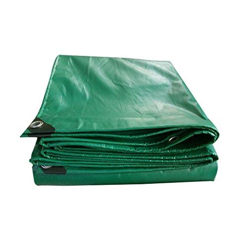 ZZYE Lona Tarra Verde - Cubierta Protectora Reversible de plástico para Exteriores multipropósito Pesado, Grosor 0.4mm, 450 g / m2 Lona Impermeable (Size : 3X5)