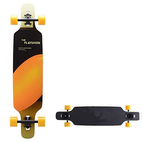 Hignful Retro Carver Skateboard Longboards Mini Cruiser Board, Downhill & Slidesector 9 Longboards Von Anfänger Bis Profi Vier-Rad-Snubby Longboard Deluxe Brush Street 39 Zoll Holz Deck Mit Stickers