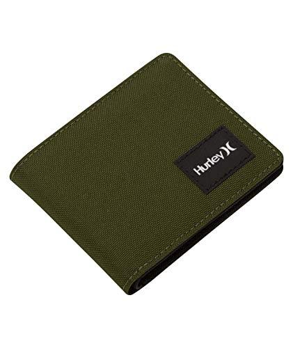 Hurley U Rebound Solid Wallet Monederos, Hombre, Legion Green, 1SIZE