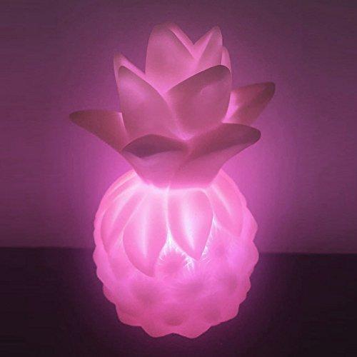 HilMe Lampe de chevet ananas LED avec figurine de dessin animé pour chambre à coucher, affichage de la maison, cadeau, Pas de zéro, rose, Taille unique