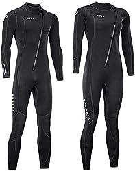 ZCCO Neoprenanzug, 3 mm, mit Front-Reißverschluss, Ganzkörper-Tauchanzug, einteilig, für Männer und Frauen, Schnorcheln, Tauchen, Schwimmen, Surfen (Damen XX-Large)