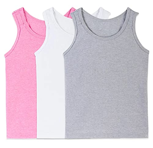 Fruit of the Loom Girls' Undershirts (Camis & Tanks) (Tank - 3 Pack - Assorted, Medium)