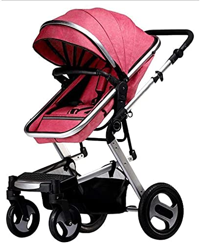 Cochecito ligero con estilo, cochecito de bebé, cochecito de bebé para bebés, cochecito de silla de silla de bebé, cochecito compacto, cochecito de bebé, almacenamiento extra grande, construcción dura