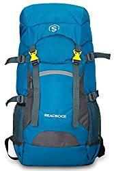 SEACROCZ® 55L Rucksack Hiking Trekking Camping Travel Backpack Outdoor Sport Rucksack Bag for Men and Women with Laptop Compartment 1 Year Warranty STB002 (Blue with Grey),SEACROCZ,STB002-SEACROCZ-PERENT