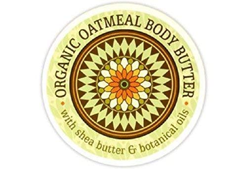 Greenwich Bay Trading Company Botanic Body Butter with Shea Butter and Cocoa Butter 8oz Tub (Organic Oatmeal)