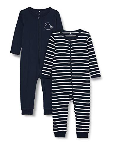 NAME IT Boy Schlafanzug 2er-Pack Reißverschluss 104Dark Sapphire