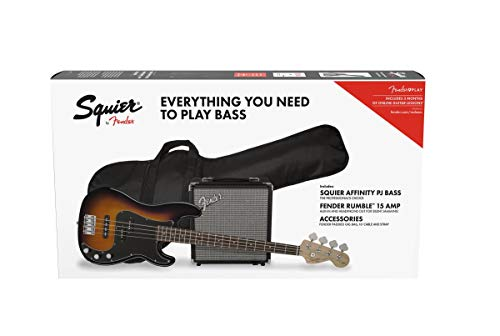 Fender Squier Affinity Precision Bass PJ LRL Brown Sunburst + Funda + Rumble 15 Bajo Eléctrico
