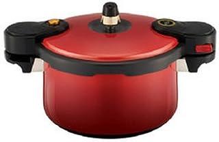 KitchenFlower EcoCook Ceramic Pressure Cooker Red 5.0L