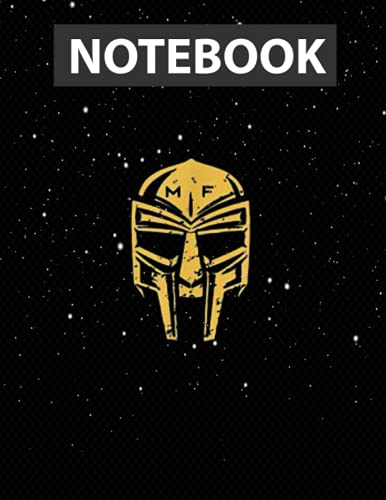 Tribute To M.F Doom Villain Mask Large 8.5x11 inches / Notebook College Ruled