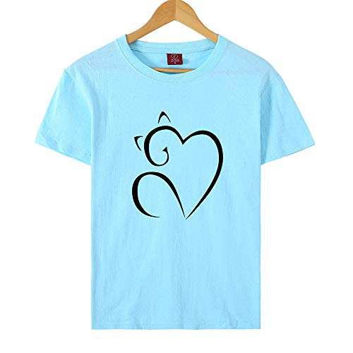 NOBRAND - Camiseta de manga corta para mujer, diseño de gatito