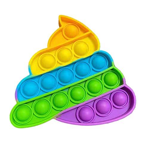 Juego de juguetes sensoriales, juguete de empuje y descompresión para niños y adultos, juguete de descompresión para niños y adultos, juguete para aliviar la burbuja y la ansiedad (Rainbow)