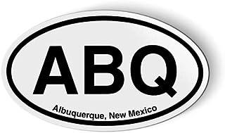 "Stickers & Tees ABQ Albuquerque New Mexico Oval - Car Magnet - 5"""