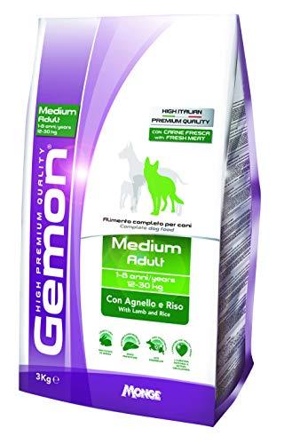 Ração Gemon Adulto para Cães de Raças Médias Cordeiro e Arroz 3kg Gemon Para Todas Médio Adulto, Sabor Cordeiro 3kg