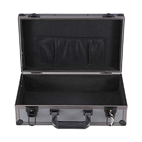 XBSXP Estuche rígido portátil de Vuelo, Estuche de Transporte de Aluminio Maletín Negro Caja de Herramientas Contenedores de Almacenamiento con Cerradura Estuche para Equipos