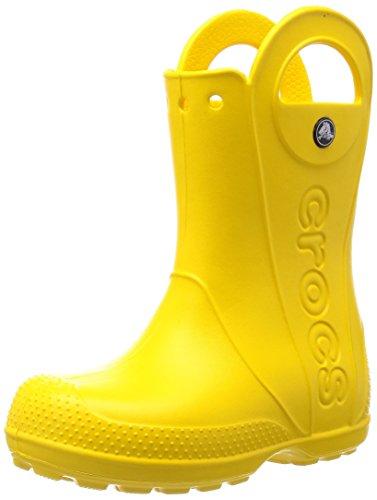 Crocs Handle It Rain Boot, Botas Niños-Niñas, Amarillo (Yellow), 23/24 EU