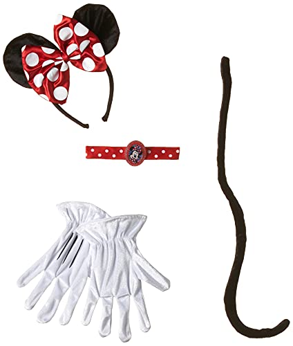 Disguise Disney Minnie Mouse Clubhouse Minnie Kit, Red/White/Black, One Size
