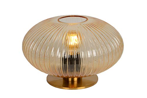 Lucide VIRGIL – Lámpara de mesa – Diámetro 30 cm – 1 x E27 – Amber