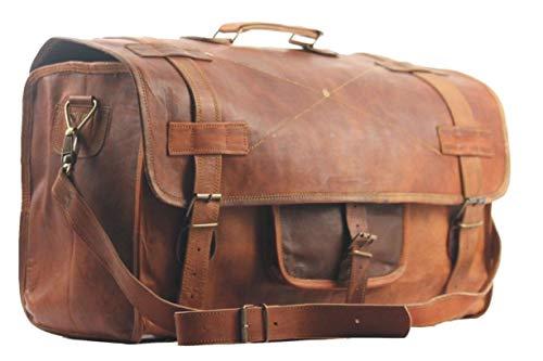 SBazar Borsone da viaggio, in stile vintage, da uomo, per bagagli a mano, weekend, sport/palestra, 50,80 cm