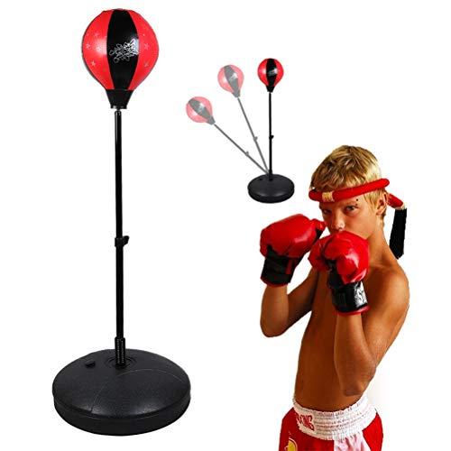 Saco de Boxeo para niños Mini Saco de Boxeo Independiente Kit de Guantes Bola Inflable Juventud Ejercicio físico Juguete para niños Regalo de cumpleaños