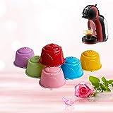 AVEE Crema Vaso del Filtro de café para Dolce Gusto rellenable Nueva Dolci Gusto de café Reutilizable cestas cápsula