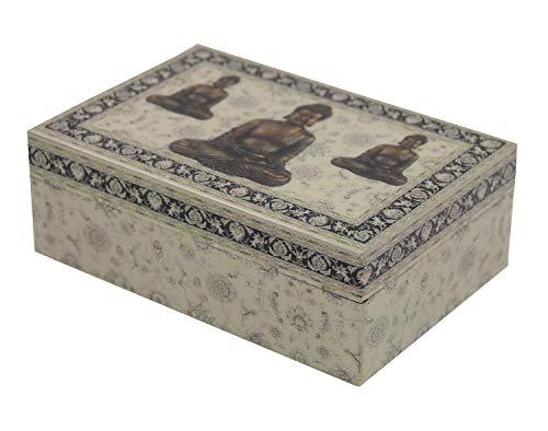 DharmaObjects Decorative Jewelry Trinket Keepsake Storage Box (Buddha Zen, 6' X 4')