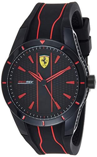 Scuderia Ferrari Herren Quarz Armbanduhr mit Silikonarmband 830481