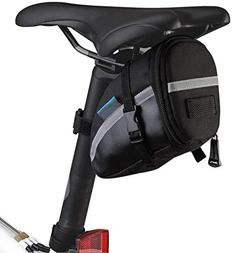 Intsun 1.2L Bike Seat Saddle Wedge Pack Pannier Storage Bag Mountain Road MTB Bicycle Bike Cycling PU Saddle Bag, Bicycle Repair Tools Pocket Pack Riding Cycling Supplies