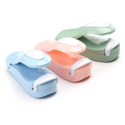 Kleine Beuteldichtmaschine Abdichtungsmaschine Mini Haushalt Abdichtungsmaschine Handdruck Typ Abdichtgerät Manuelle Tragbare Abdichtung Artefakt (Pink)
