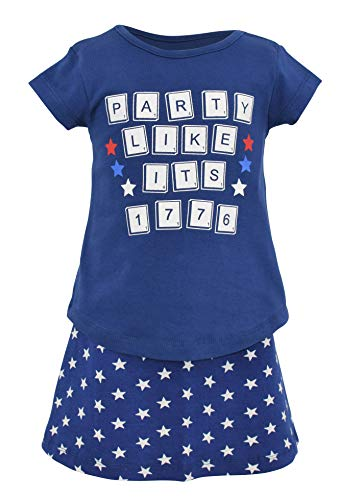 Unique Baby Girls Party Like It's 1776 4th of July Dress Skirt Set (5)